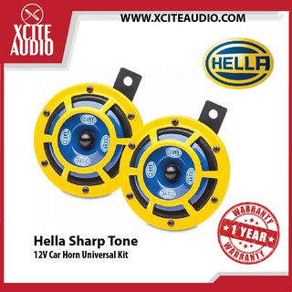 Pair +Relay Hella Yellow Panther Car Horn