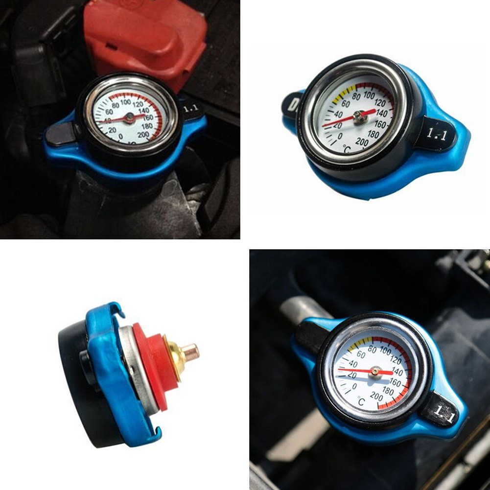 1.1Bar 16 PSI Thermo Thermostatic Radiator Cap Cover Water Temperature Gauge NEW