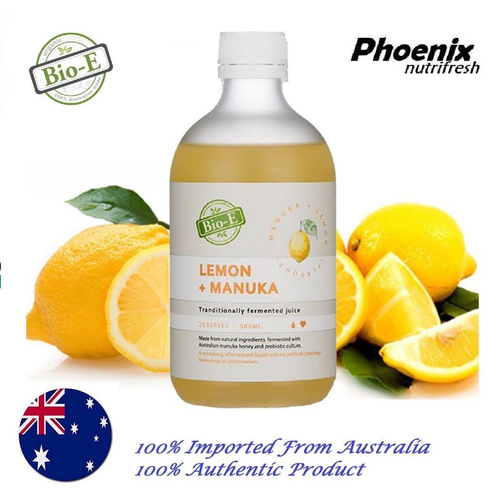 BIO-E Lemon + Manuka Juice 500ml [EXP: 03/2021]