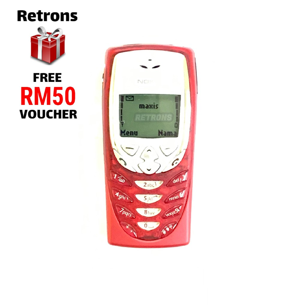 Original Nokia 8310 Red Black Full Set [ 1 Month Warranty ] FREE RM50 Voucher Refurbished by Retrons
