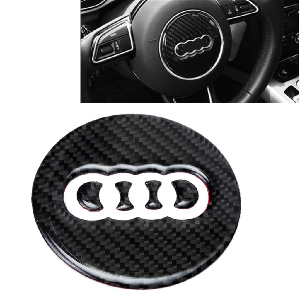 Ninetynine Carbon Fiber Steering Wheel Badge Emblem Sticker Decal For Audi A3 A7 S7 Q7 Q3 Shopee Malaysia