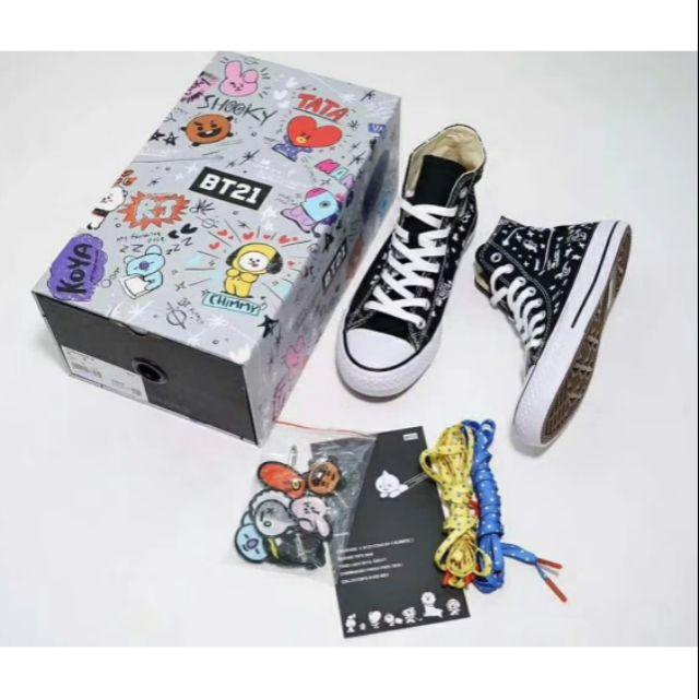 a69748a1d41d5f Converse X BT21 Hi Top Black By BTS Korea Women Shoe Sneaker ...