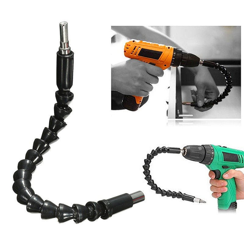 Flexible Drill Bit Extension Shaft Kits 10 Inch Flexible Shaft Extension Bits With 10 Pcs Drill Bit Sets and 9Pcs 1//4 Hex Bit Holder Flexible Screwdriver Extension for Electrical Cabinets Furniture