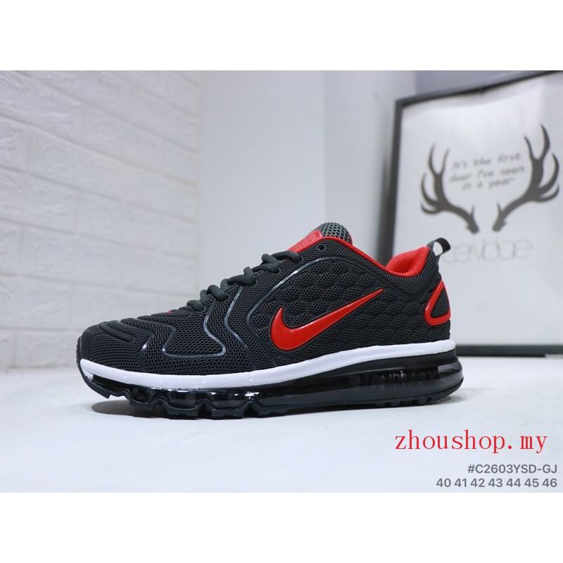 Calzado de hombre Nike Air Max 720 black with red nike New