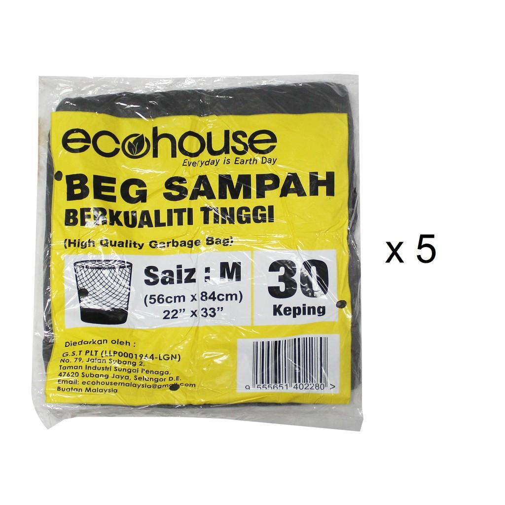 Ecohouse Garbage Bags - M (30 Pcs x 5)