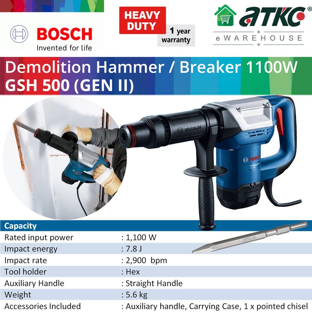 BOSCH GSH 500 (GEN 2) Demolition Hammer with Hex Professional 1100W (06113386L0)