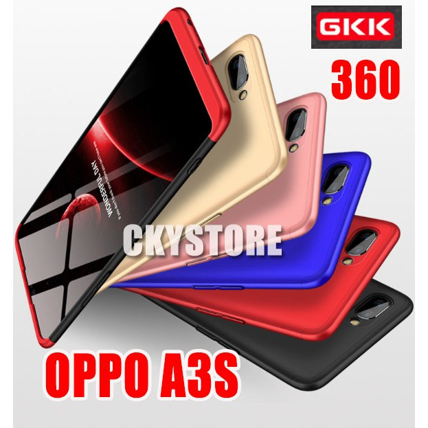 Oppo A3s Gkk 360 Full Protection Slim Fit Case Shopee Malaysia