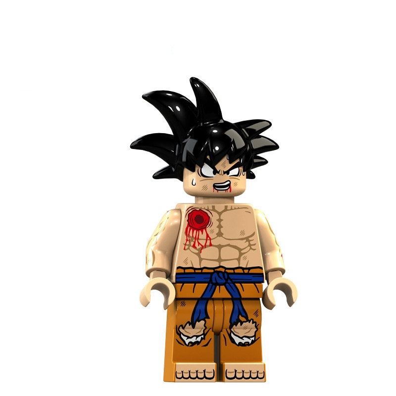 8Pcs//lot Dragon Ball Z Black Goku Naba Sun Wukong Badak Dales Action Figures