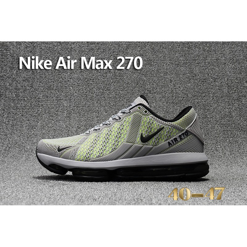 771db715171fd8 Nike Air Max Flair 270 Running Shoes Grey Green Men Sneaker Size 40 ...