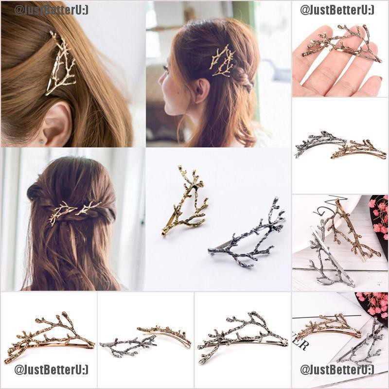 Celebrity Metal Tree Branch Hairpins Gold Silver Hairclip for Women Bobby Pin