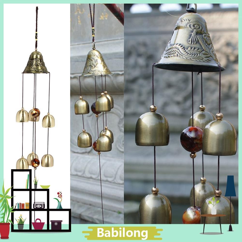 3 Bells Brass Clock Wind Chimes Bell Yard Garden Outdoor Living Decor Nice Gift