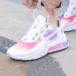Original Nike Air Max 270 React White Pink Purple For Women Causal