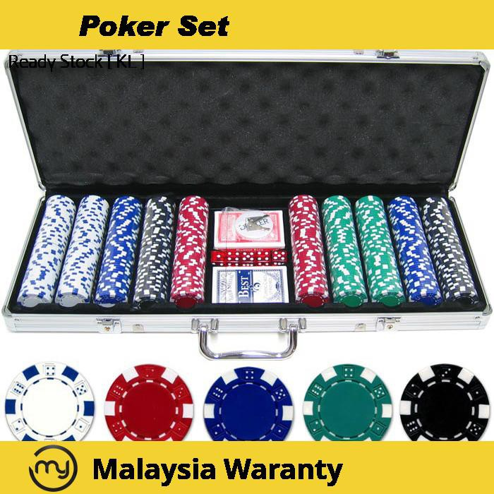 Poker Set With 500 Chips With Aluminium Case Casino Games Shopee Malaysia