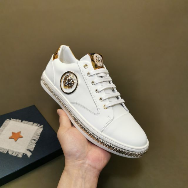 Versac2020 Latest Fashion Men Casual Shoes (White) Premium - 38-45 EURO