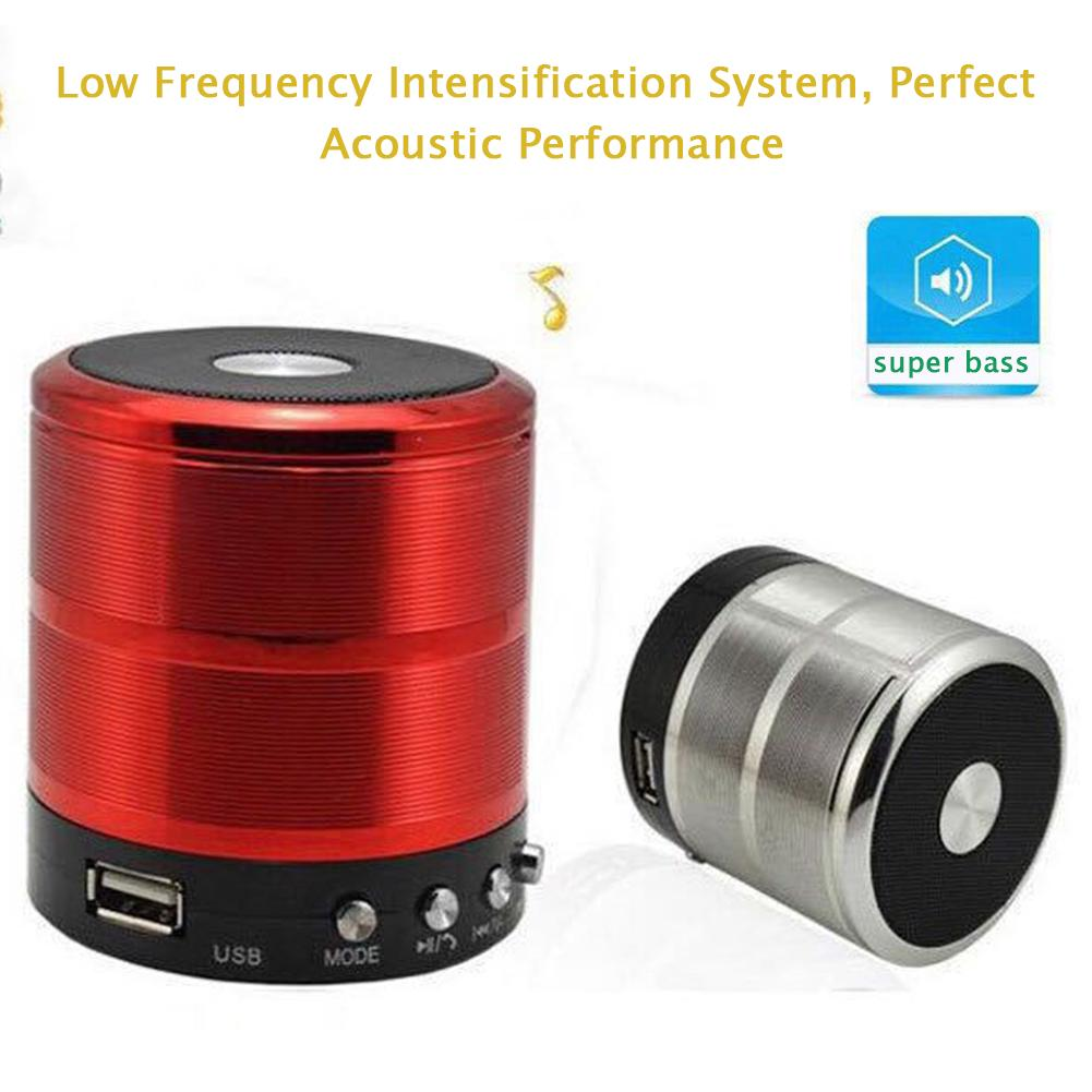 Portable Super Bass Speaker Bluetooth/USB /TF/LED Light [MS