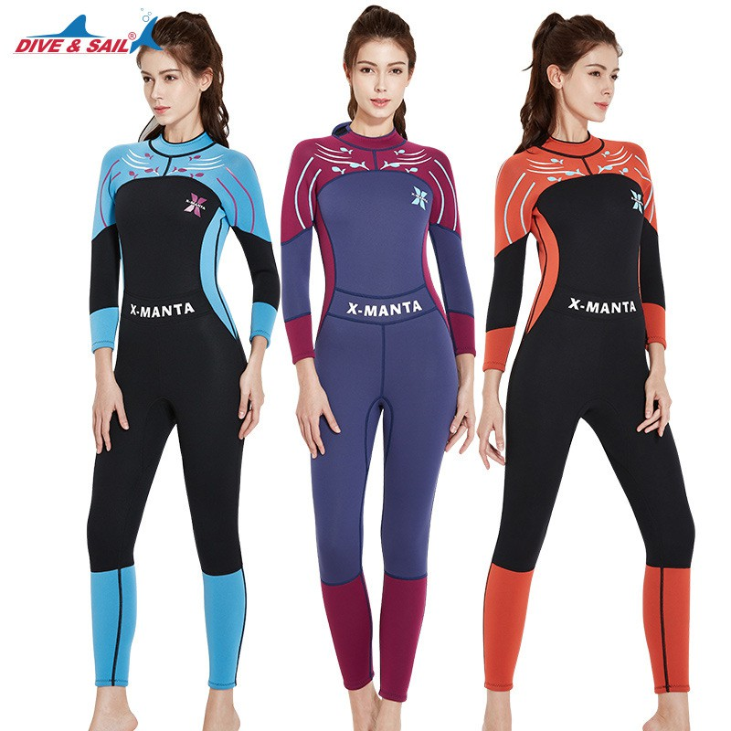 811d8649ce Dive&Sail women wetsuit 3mm full one piece suit full body girls wet suit