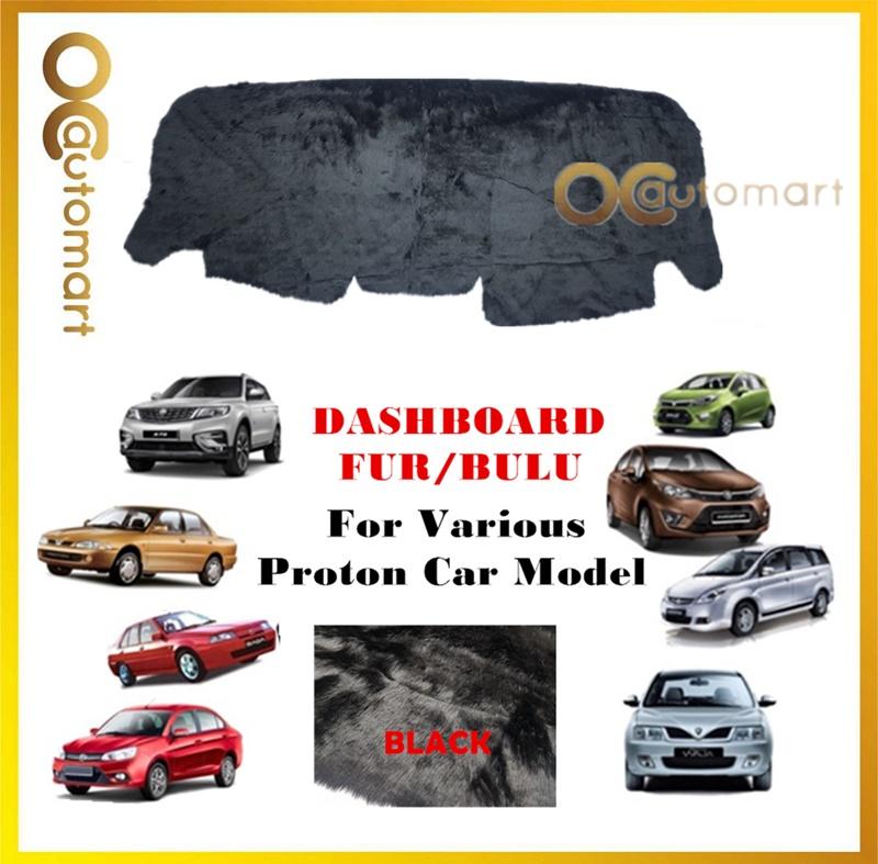 Customized Dashboard Cover Fur/Bulu (Full Black) For Proton X70 Saga BLM/FLX Exora Wira Persona Gen2 Iriz Ertiga Etc