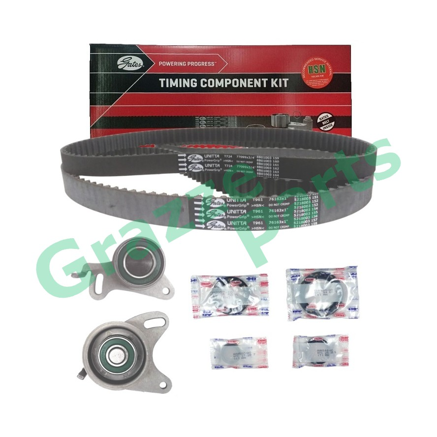 GATES Timing Belt Kit Set for Mitsubishi Pajero Storm, Triton Lite 2WD 163RU25