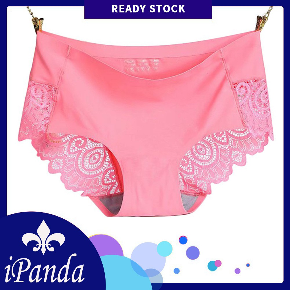 0ef31d0fb66c Soft Cotton Women Lace Panties Sexy Stretch Underwear High Waist Brief Plus  Size | Shopee Malaysia