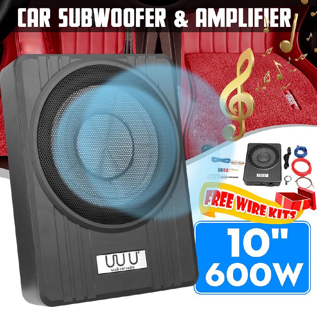 10 Inch 600W Slim Under Seat Car Speakers Car Active ... Mbq Subwoofer Wiring Diagram Active on