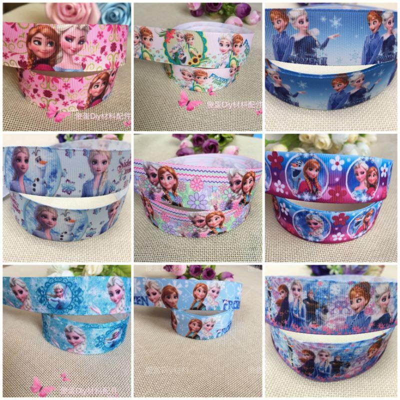 Pre order 25mm FROZEN series cartoon ribbon