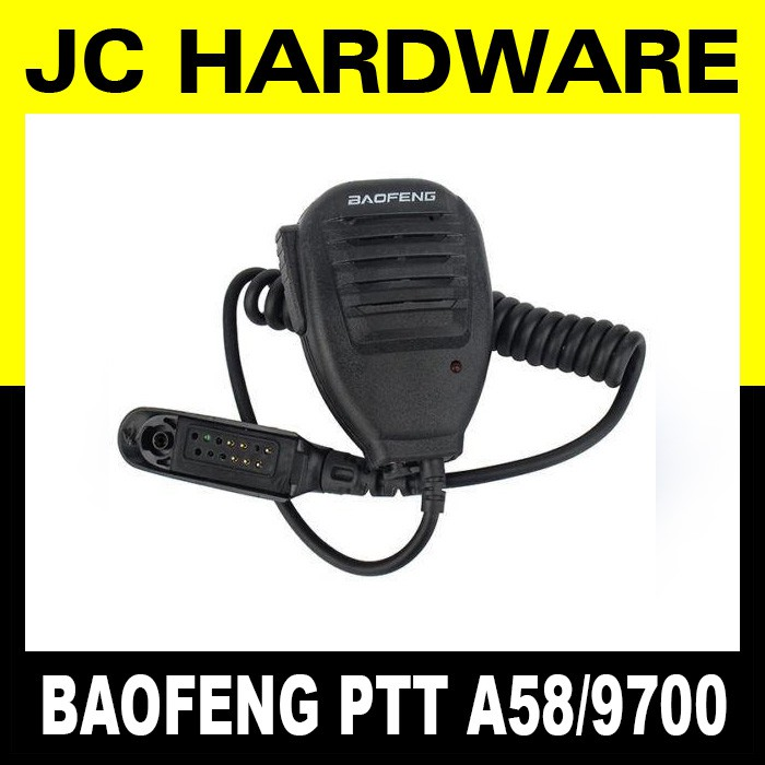 Baofeng PTT Mic Speaker for BF-A58 BF-9700 A58 9700 Model Push to talk