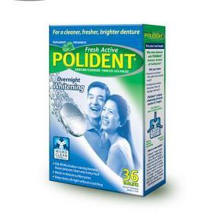 Polident Overnight Whitening Denture Tablets 36S