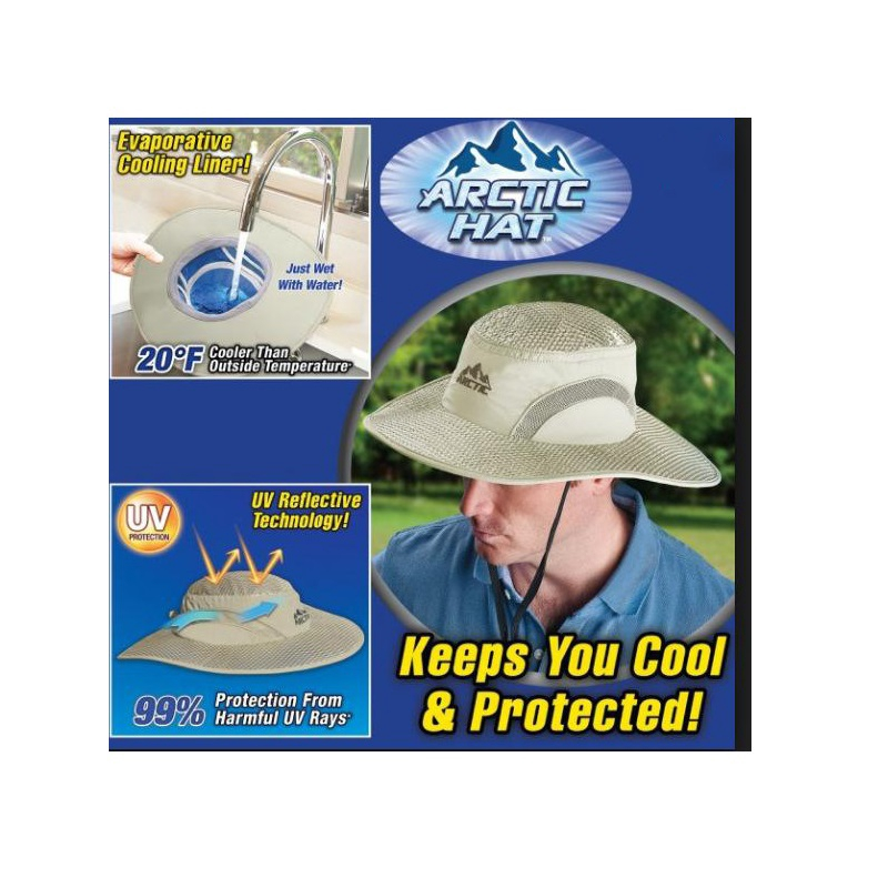 Hydro Cooling Bucket Hat Arctic Hat with UV Protection,Keeps you Cool/& Protected
