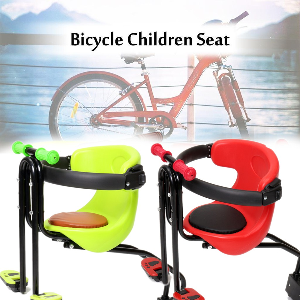 Bicycle Kids Child Front BackBaby Seat Bike Carrier with Handrail Pedals US