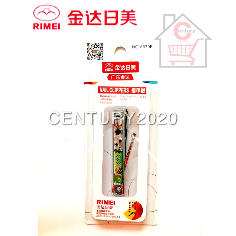 RIMEI Nail Clipper Manicure Care Nail Cutter High Grade Stainless Steel Nail Cutter A679E