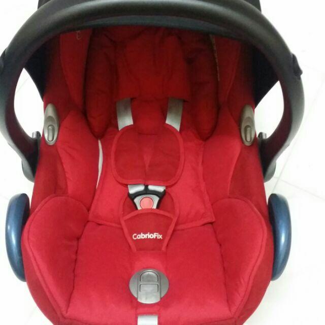 Maxi Cosi Cabriofix Baby Car Seat Red