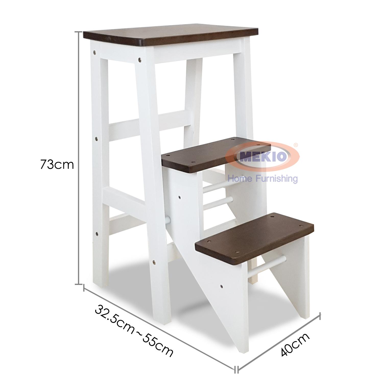 Step Chair / Ladder Chair Brown White 25011
