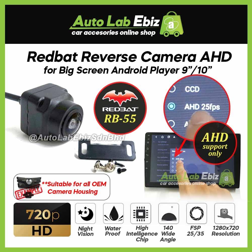 "Redbat Reverse Camera AHD 720p HD for Big Screen Android Player 9""/10"" (RB-55)"