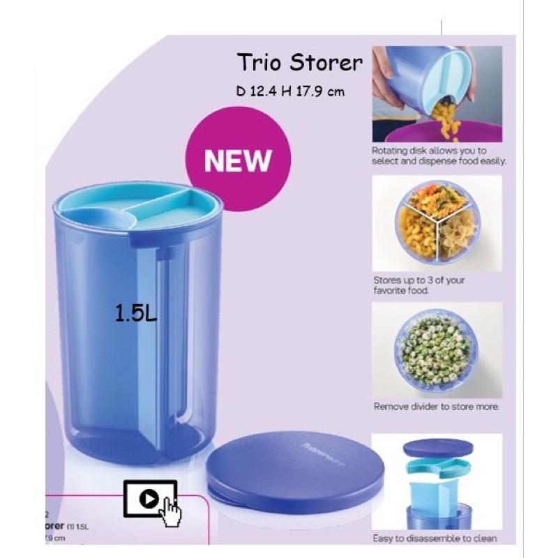 Tupperware Trio Storer Blue 1.5L