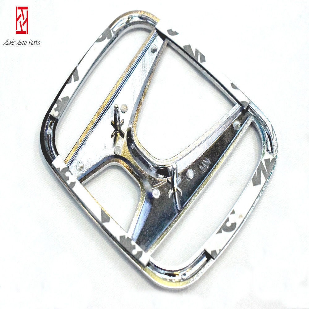 """Front Grill /""""H/"""" Emblem Silver Logo for For Honda CITY FIT 75700-SEL-305 92*76mm"""