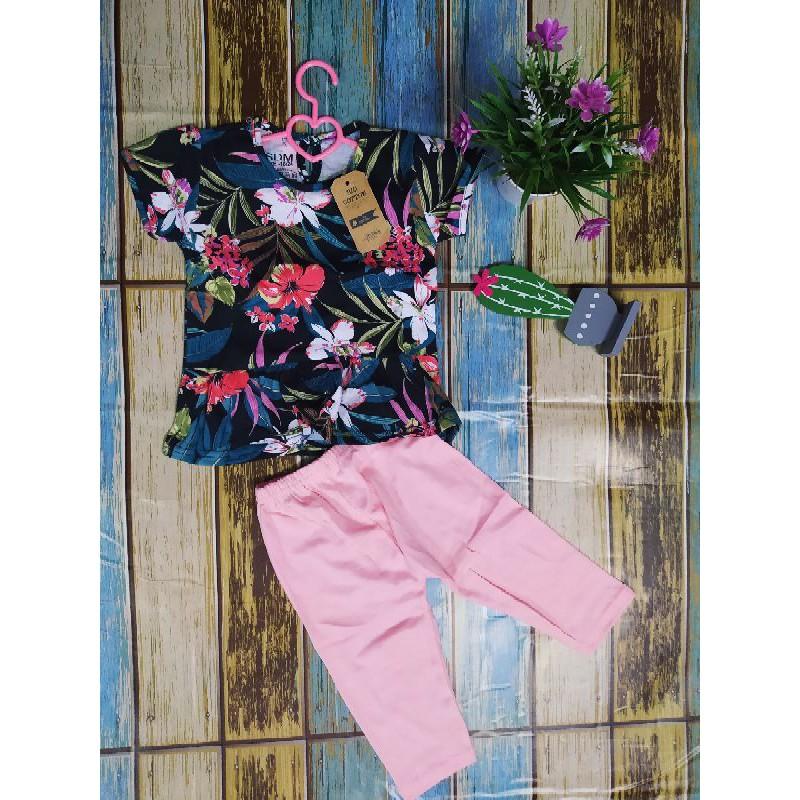 Girl baby Set Pyjamas Set dress / Baju Set Perempuan Set cantik