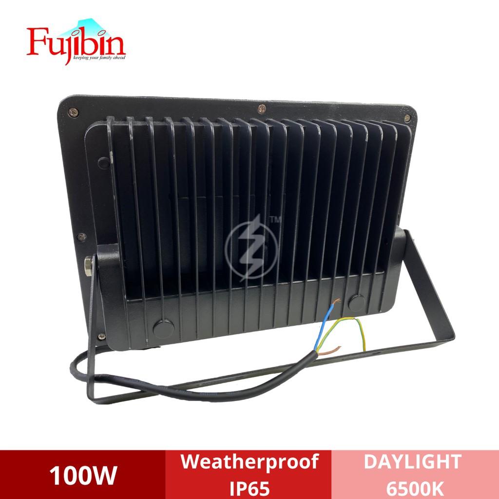 FUJIBIN 100W LED Flood Light (DayLight 6500K) LAMPU SPOT LIGHT / WARNA PUTIH