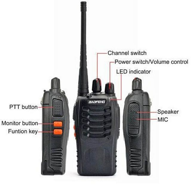 BaoFeng BF-999S 3-5KM Walkie Talkie 16 Channel Radio
