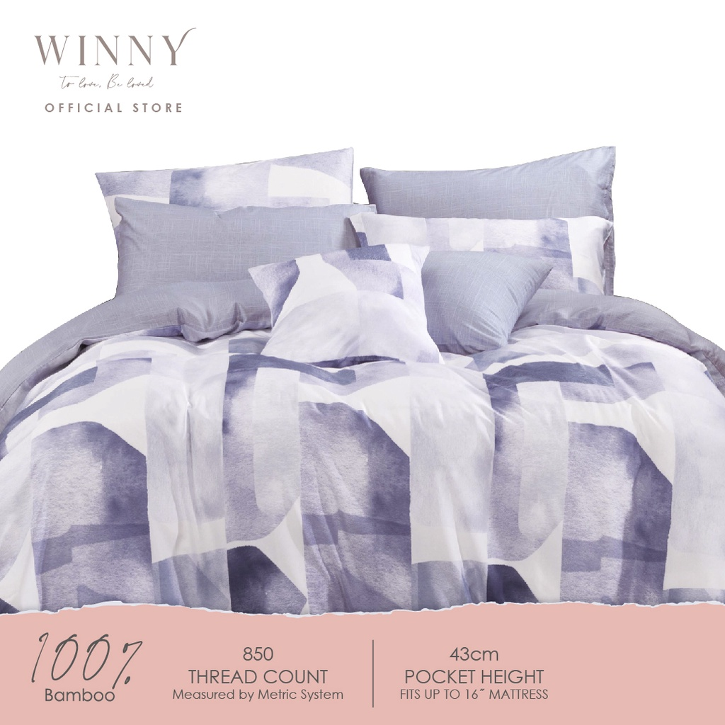 Winny Benevolence Bamboo Fitted Sheet Set-850TC (SUPER SINGLE/ QUEEN/ KING)