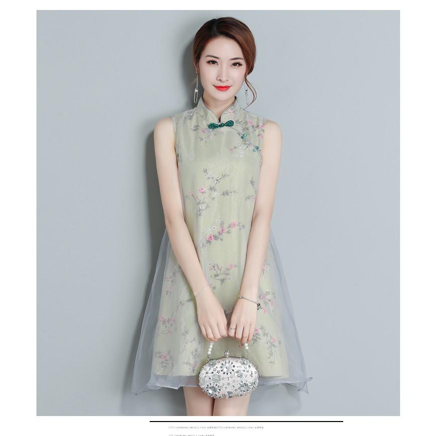 71f7ded05b Women Plus Size CheongSam Ladies Cheongsam Short Skirt Dinner Dress Baju  Kebaya | Shopee Malaysia