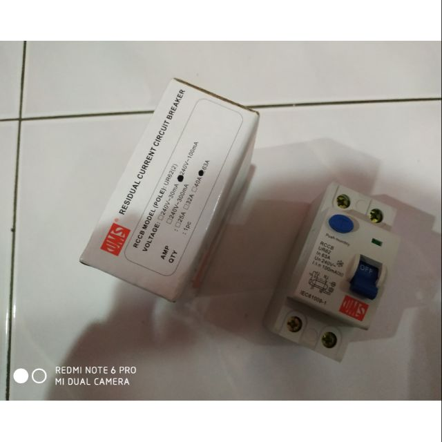 (READY STOCK)UMS ELCB 40A And 63A 2POLE SIRIM APPROVED