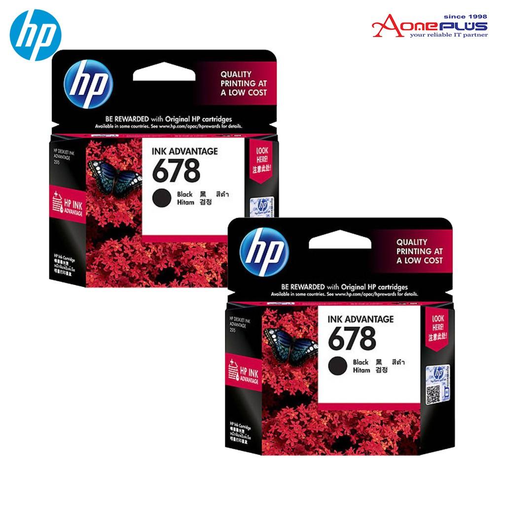 Hp 680 Black Or Tri Color Original Ink Advantage Cartridge Shopee Tinta 45 Malaysia