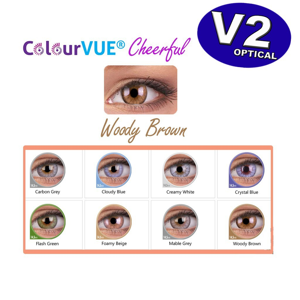 Colourvue Cheerful 1 month Comestic color lens (ready stock) MAXVUE