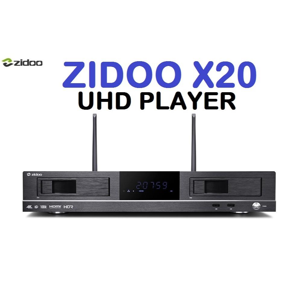 ZIDOO X20 REALTEK 1296DD 2GB RAM 16GB ROM 4K UHD MEDIA PLAYER SATA HDD SLOT