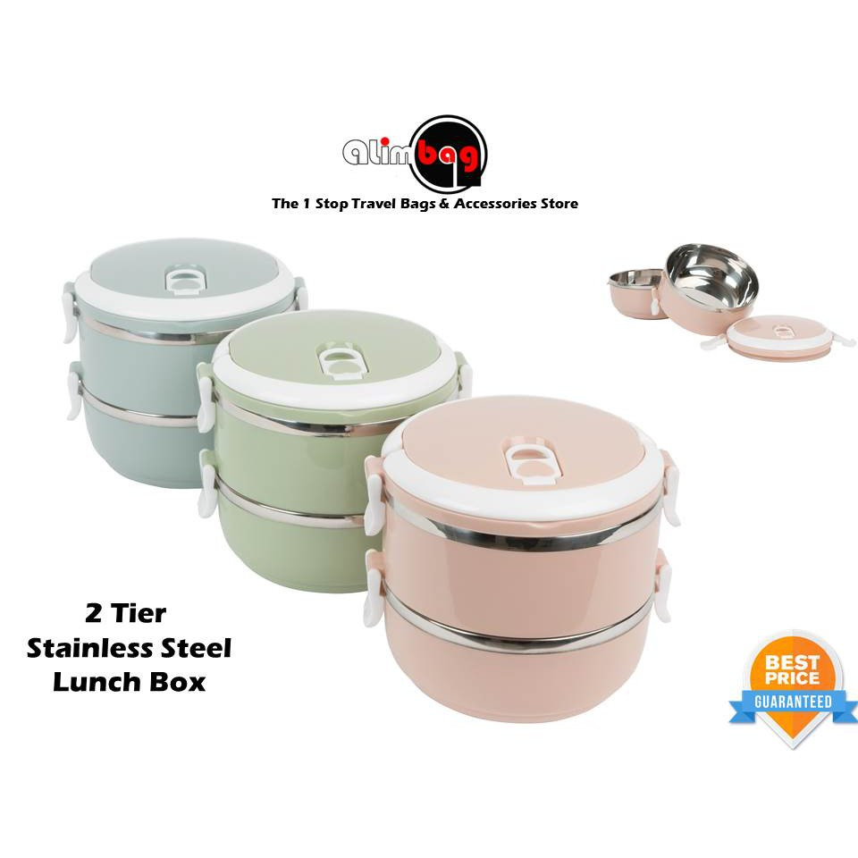 7411c7e2e HARGA BORONG 👍QUALITY 4 LAYER Stainless Steel Lunch Box Food Thermal  Container