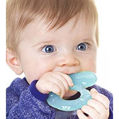 Nuby: Comfort Silicone Fish Shaped Teether - Blue