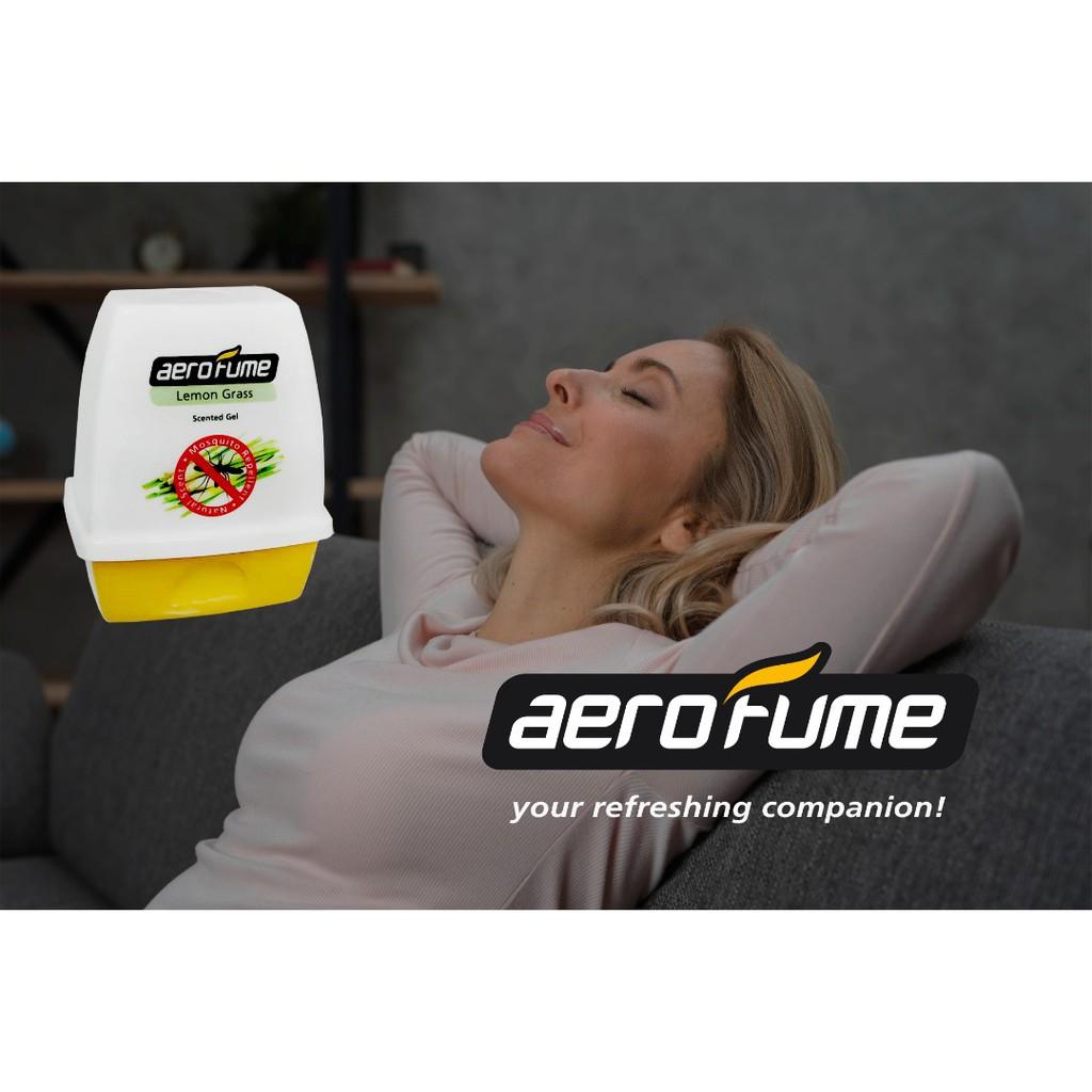 Aerofume Air Fresheners Scented Gel  180g ( Lemon Grass, Aqua Flora, Lavender, Rose)