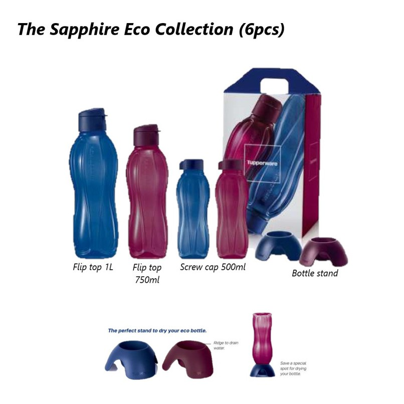 Tupperware Eco Bottle Set The Sapphire Collection (4 pcs)