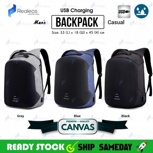 3910acc7aef4 Realeos Anti Theft Cut Proof USB Charge Laptop Backpack R952 ...