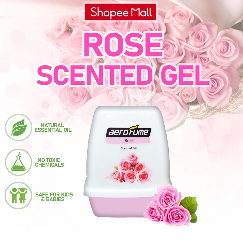 Aerofume Scented Gel Series Air Freshener Perfume - Rose Fragrance